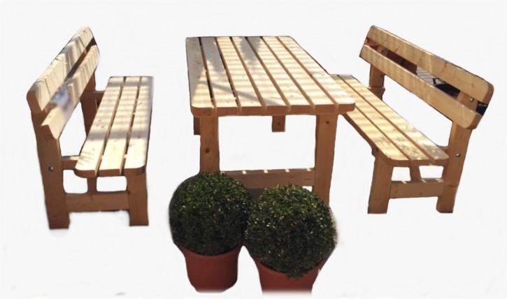 Bierzelt Sitzgruppe Gartengarnitur massiv Holz