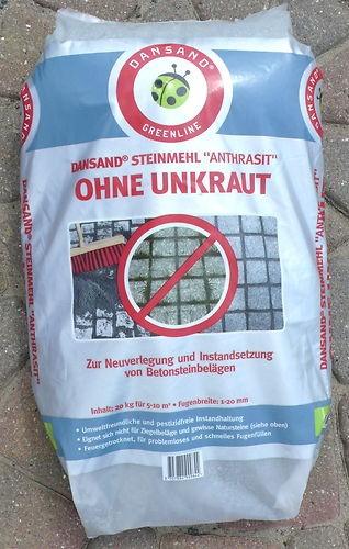 Dansand Steinmehl Anthrazit Ohne Unkraut Fugen Pflaster Sand Terrasse 0,95/kg
