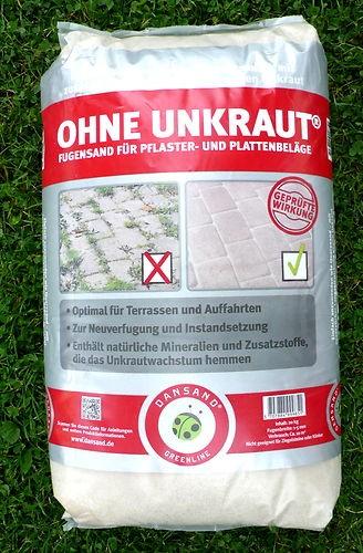 Dansand Steinmehl Fugen ohne Unkraut Pflaster Sand Terrasse 0,95/kg Natur