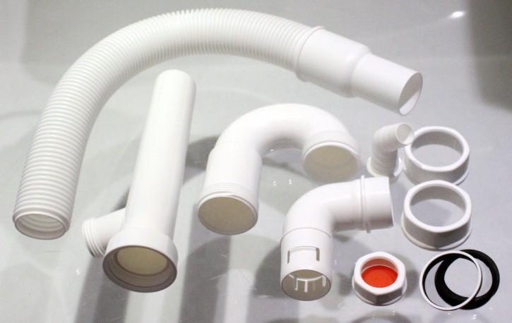 Flex Geruchsverschluss Ablaufgarnitur Siphon Abfluss Garnitur Waschbecken Spüle
