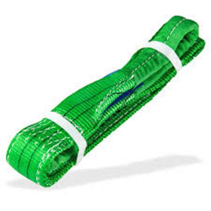Hebegurt 2 t Nutzlänge 1,5 m SF 7 grün Hebeschlinge verstärkte Enden robust