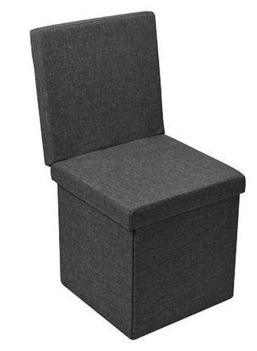 Multifunktionsbox Truhe Sitz Hocker Stuhl platzsparend faltbar grau