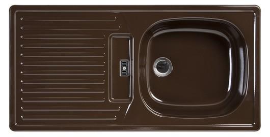 Rieber E86K Küchenspüle Spülbecken Spüle Rechteckspüle Mocca rechts