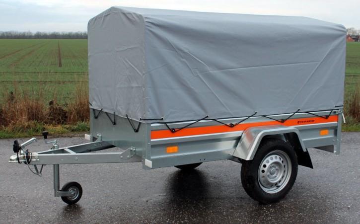 PKW Anhänger ECO 2010 Plus 750 kg 13 Zoll Spriegel & Plane 0,80 Stützrad