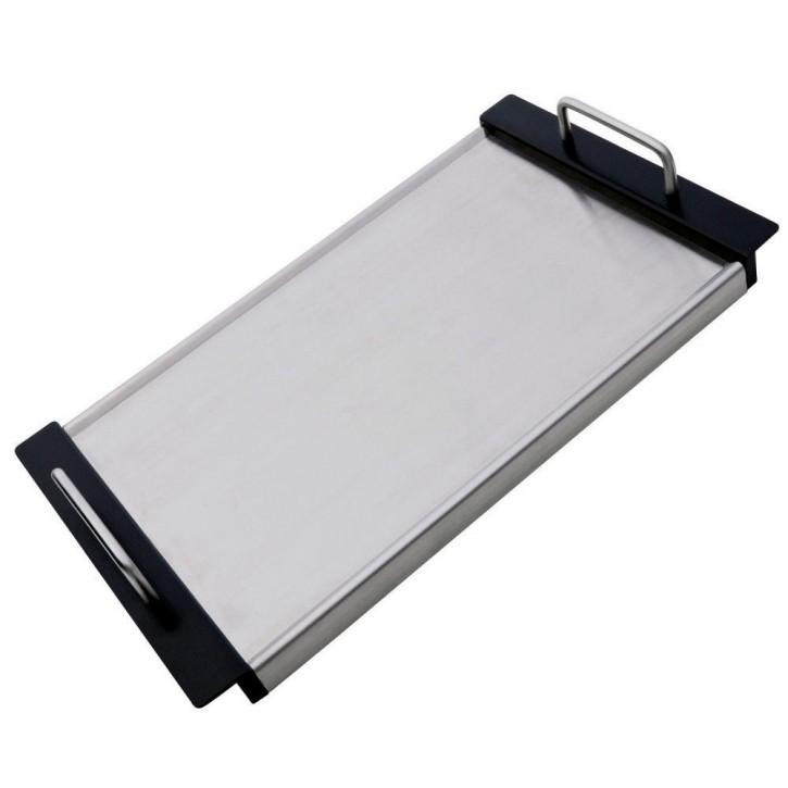 Teppanyaki Platte Grillplatte Tischplatte Grill Platte 26,5x48cm