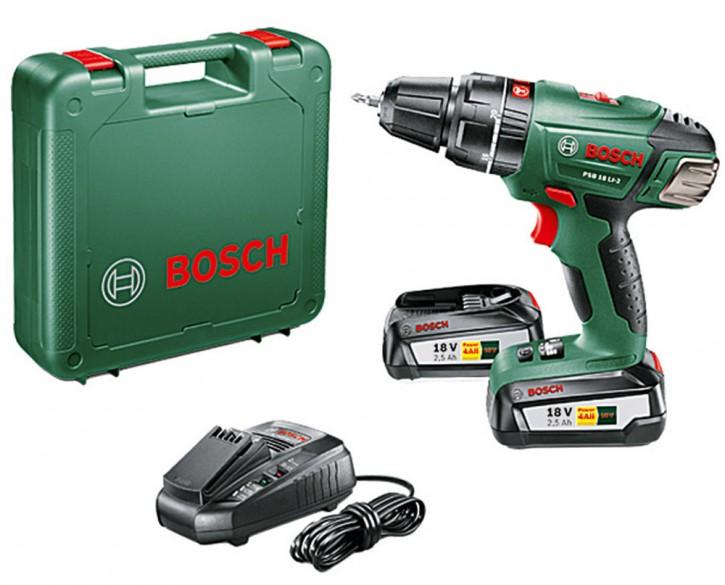 Bosch PSB 18 Li 2 Schlagbohrschrauber Schlagbohrmaschine Schrauber m. 2 Akku Neu