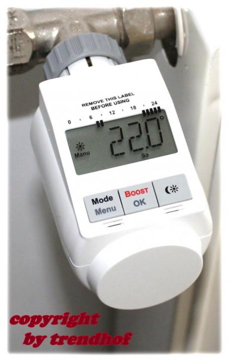 Energiespar Regler Energiesparregler Heizkörper weiss Heizkörperthermostat
