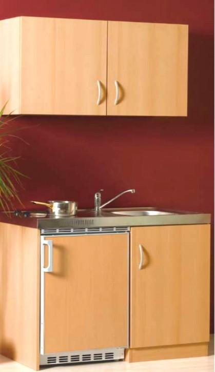 Miniküche - Singleküche - Pantryküche 1 Meter Buche Oberschrank