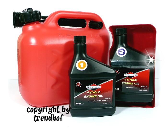 Briggs & Stratton Ölwechsel Set 4-teilig für Rasenmäher