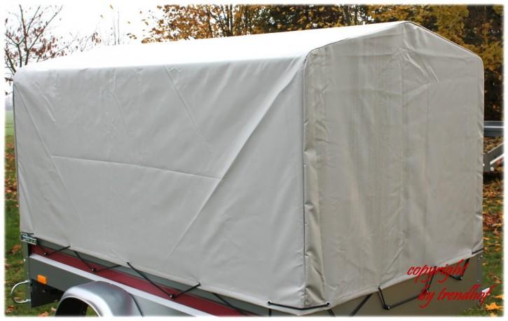 Spriegel/Plane-Set 116cm Spitzdach 0,80 m für PKW-Anhänger