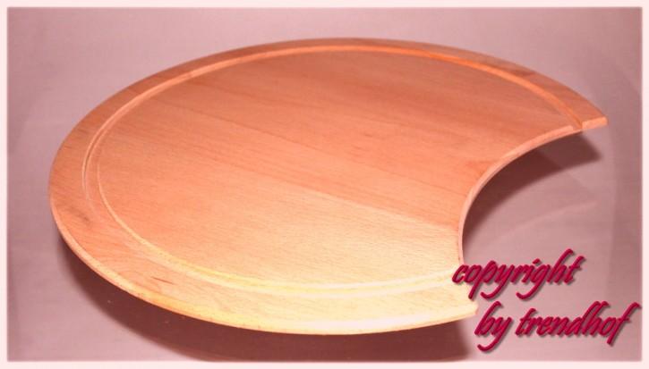 Rieber Küchenbrett Schneidbrett Rundbrett Holzbrett für Rundspüle