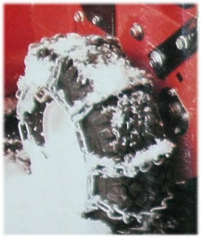 Schneeketten für Rasentraktor