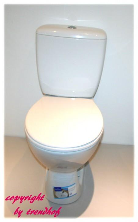 Cersanit Keramik WC Set Abgang senkrecht mit Keramik Spülkasten
