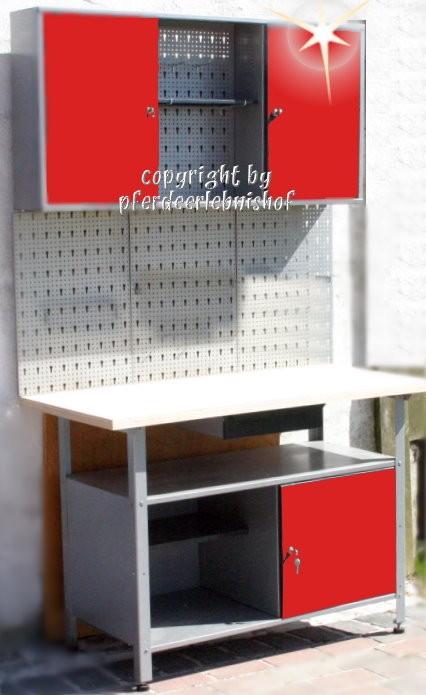 Komplette Werkstatt 2-teilig rot abschließbar