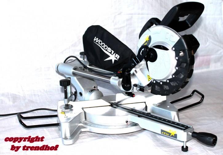 Zugsäge Kappsäge Gehrungssäge mit Laser von Woodstar