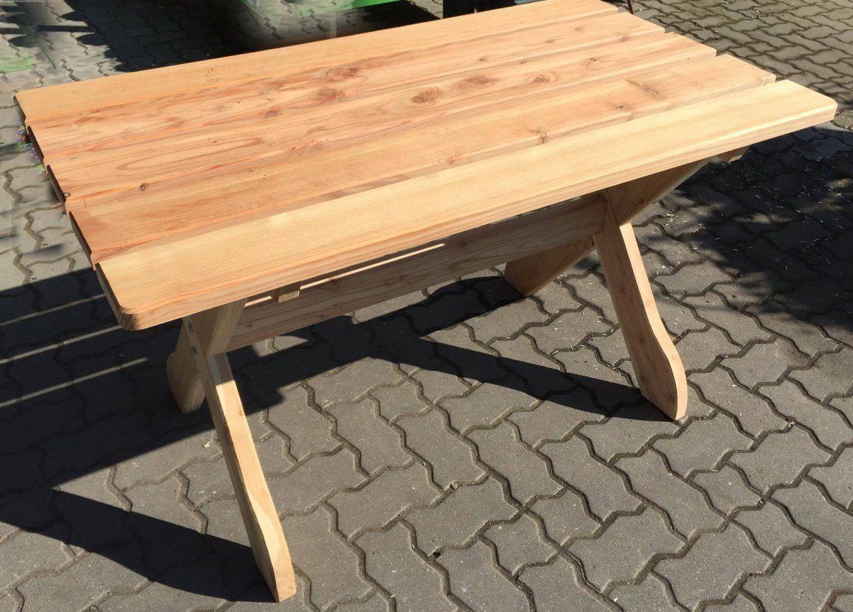Holz Massiv Tisch 130 X 74 Cm Fsc Laerche Holztisch Gartentisch