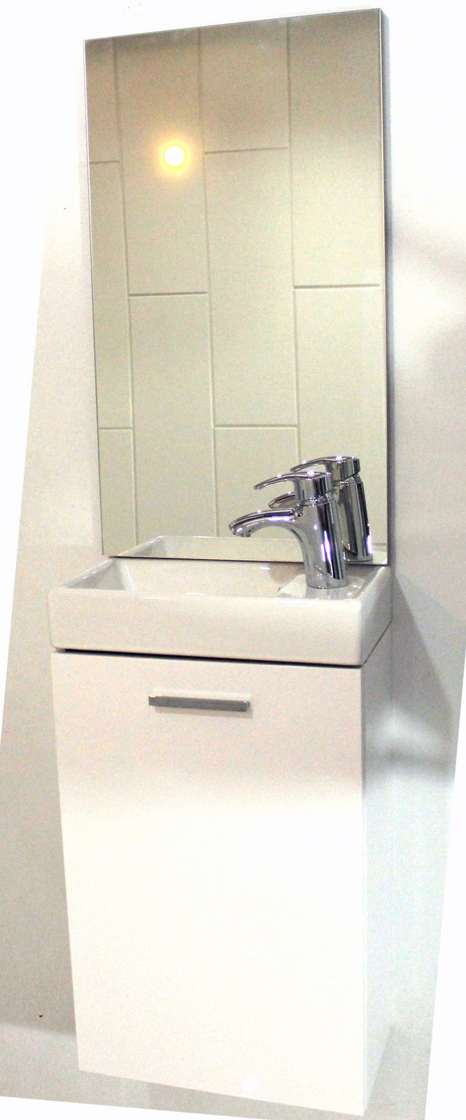 Mini Waschplatz Waschtisch Spiegel Schrank Gäste WC