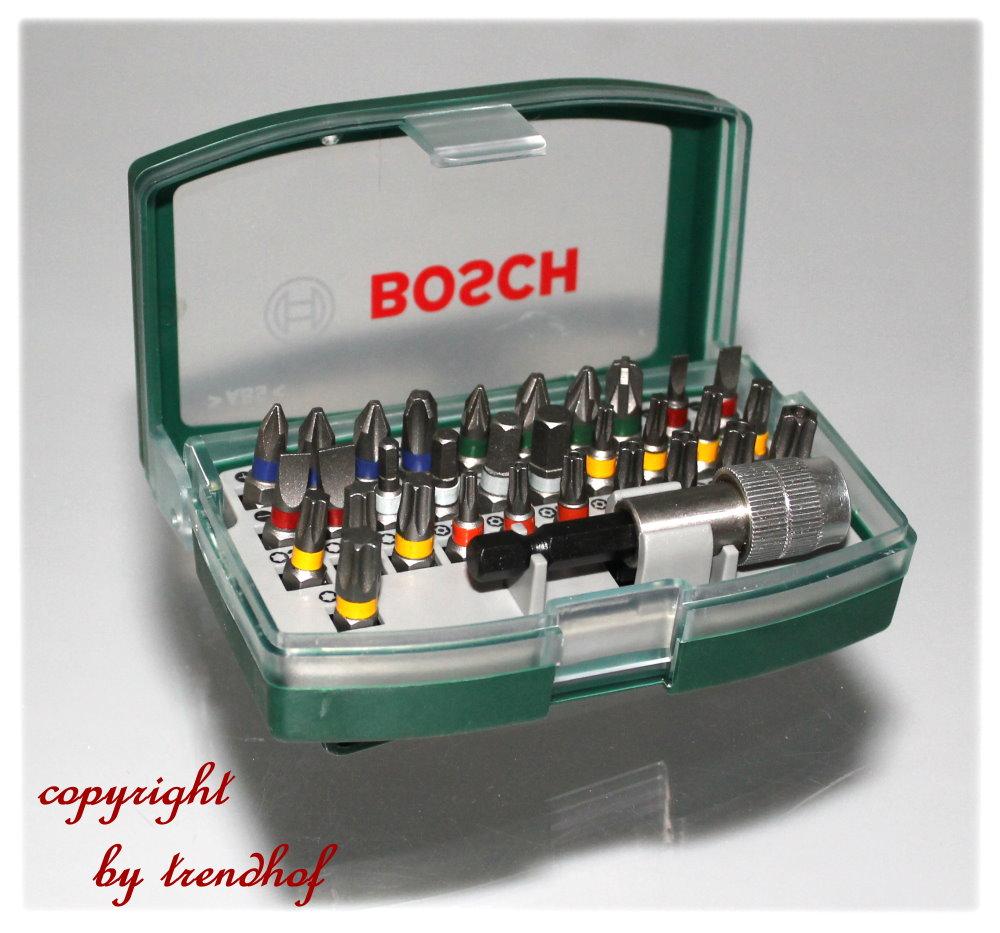 bosch bitsatz 32 tlg in kunststoffbox. Black Bedroom Furniture Sets. Home Design Ideas