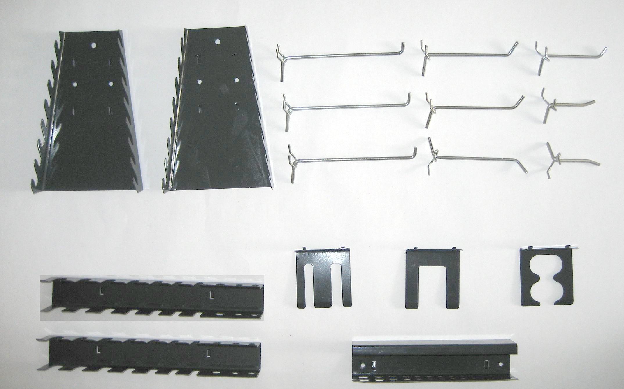 17 teiliges haken set f r lochw nde. Black Bedroom Furniture Sets. Home Design Ideas