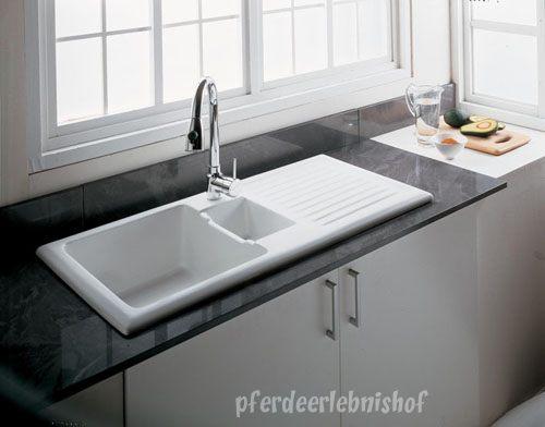keramik küchen spüle schmutz perlt ab