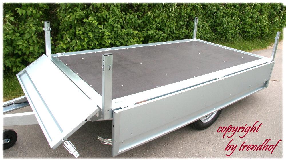 neptun pkw anh nger pkw anhaenger pkw anhnger plattform gn124 verzinkt stahlblech 750kg. Black Bedroom Furniture Sets. Home Design Ideas