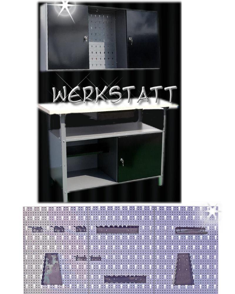 Werkstatt Werkzeug Handwerker Hobby Keller schwarz 2tlg. groß ...