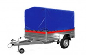 PKW Anhänger ECO 2012 750 kg 13 Zoll Bereifung Trailer Stützrad Spriegel Plane