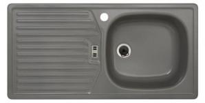 Rieber E86K Küchenspüle Spülbecken Spüle Rechteckspüle Kiesel rechts