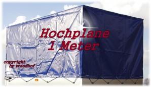 STEMA Spriegel + Plane Hochplane 1 m für Anhänger blau