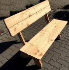 Bank FSC Lärche Parkbank Holz massiv 130 cm