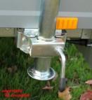 Heckstütze für PKW Anhänger mit Befestigung für Stema Opti