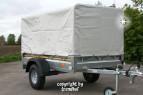 Stema PKW Anhänger 116 cm breit 750 kg 13 Zoll Plane Spriegel Stützrad Diebstahl
