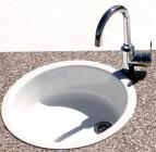 Rieber Einbauspüle E 39 weiß Rundspüle Küchenspüle Küche Spülbecken Neu