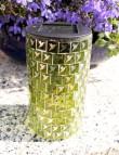 Mosaik Solarleuchte Solar Solarlampe Kegel Deko grün Eglo