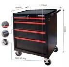 XXL Werkstattwagen befüllt Werkzeug fahrbar schwarz / rot