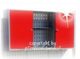 Werkzeugschrank Metall 2-türig grau-rot abschließbar