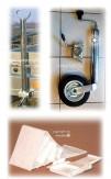 XXL PKW Anhänger Zubehör-Set 5-tlg. Stützrad Heckstützen Unterlegkeile