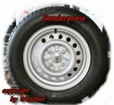 Ersatzrad 13 Zoll für PKW Anhänger 750 kg