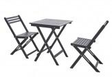 Balkon Möbel Set Vintage grau lasiert Tisch 2 Stühle klappbar