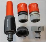 Gardena Wasserhahn u Schlauchsystem Wasserstop Regulierspritze Hahnstück Adapter