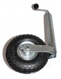 Stützrad + Halterung luftbereift für Pkw-Anhänger 150 kg