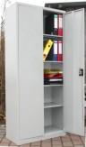 Metallschrank Aktenschrank hoch 2-türig Büro Schrank abschließbar