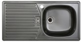 Rieber E86K Küchenspüle Spülbecken Spüle Rechteckspüle Platin rechts