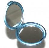 Taschenspiegel klappbar mit Vergrößerungsspiegel blau
