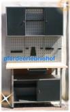 Komplette Werkstatt grau + 3-teilige Lochwand + Hakensortiment