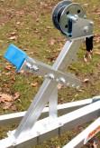 Windenstand mit Winde Windenbock Gurtwinde Bugpuffer für Bootstrailer