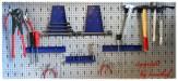 17 teiliges Haken Set blau für Lochwand