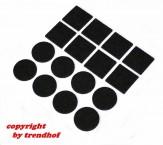 32 tlg. Filzgleiter Set Möbelgleiter selbstklebend schwarz