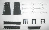 17 teiliges Haken Set grau für Lochwand