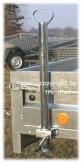 Abstellstütze Heckstütze inkl. Halterung für Pkw-Anhänger